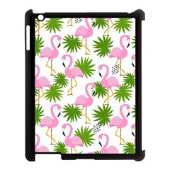 Seamless Pattern With Cute Flamingos Apple Ipad 3/4 Case (black)