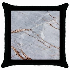 Gray Light Marble Stone Texture Background Throw Pillow Case (black) by Vaneshart