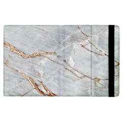 Gray Light Marble Stone Texture Background Apple Ipad 2 Flip Case