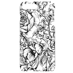 Vintage Floral Vector Seamless Pattern With Roses Iphone 7/8 Plus Black Uv Print Case by Vaneshart