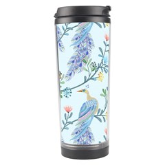 Beautiful Peacock Seamless Pattern Travel Tumbler by Vaneshart