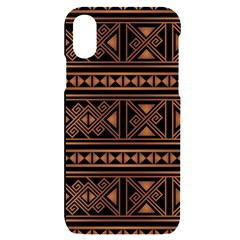 Colorful Bright Ethnic Seamless Striped Pattern Background Orange Black Colors Iphone X/xs Black Uv Print Case