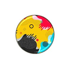 Abstract Colorful Pattern Shape Design Background Hat Clip Ball Marker (10 Pack) by Vaneshart