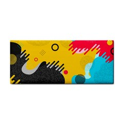 Abstract Colorful Pattern Shape Design Background Hand Towel by Vaneshart