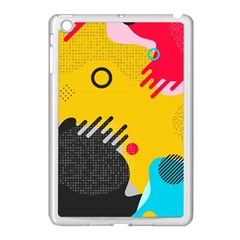 Abstract Colorful Pattern Shape Design Background Apple Ipad Mini Case (white)