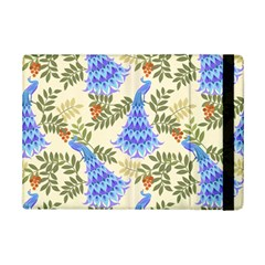 Peacock Vector Design Seamless Pattern Fabri Textile Ipad Mini 2 Flip Cases
