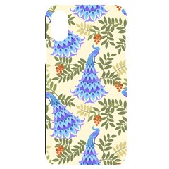 Peacock Vector Design Seamless Pattern Fabri Textile Iphone X/xs Black Uv Print Case by Vaneshart