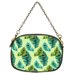 Peacock Feather Pattern Chain Purse (one Side) by Vaneshart