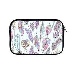 Vector Illustration Seamless Multicolored Pattern Feathers Birds Apple Macbook Pro 13  Zipper Case
