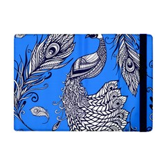 Peacock Bird Feathers Seamless Background Pattern Apple Ipad Mini Flip Case by Vaneshart
