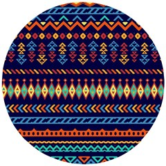 Decorative Pattern Ethnic Style Wooden Puzzle Round by Vaneshart