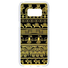 Tribal Gold Seamless Pattern With Mexican Texture Samsung Galaxy S8 White Seamless Case