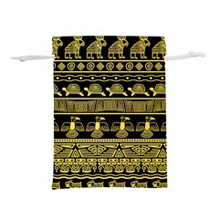Tribal Gold Seamless Pattern With Mexican Texture Lightweight Drawstring Pouch (m)