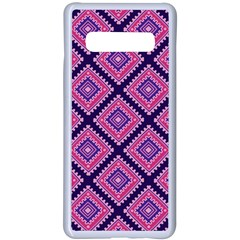 Ethnic Seamless Pattern Tribal Line Print African Mexican Indian Style Samsung Galaxy S10 Plus Seamless Case(white)