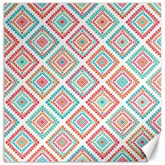 Ethnic Seamless Pattern Tribal Line Print African Mexican Indian Style Canvas 20  X 20