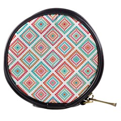 Ethnic Seamless Pattern Tribal Line Print African Mexican Indian Style Mini Makeup Bag