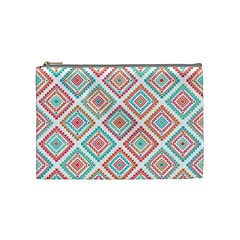 Ethnic Seamless Pattern Tribal Line Print African Mexican Indian Style Cosmetic Bag (medium)