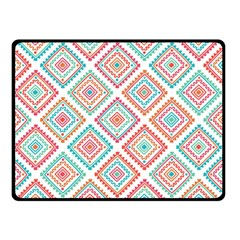 Ethnic Seamless Pattern Tribal Line Print African Mexican Indian Style Double Sided Fleece Blanket (small)