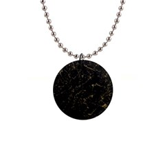 Black Marbled Surface 1  Button Necklace
