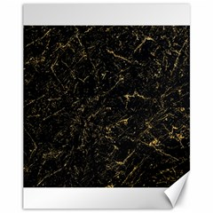 Black Marbled Surface Canvas 11  X 14
