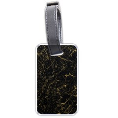 Black Marbled Surface Luggage Tag (two Sides)