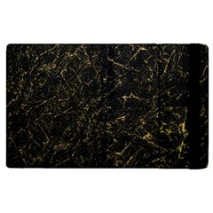 Black Marbled Surface Apple Ipad 3/4 Flip Case by Vaneshart