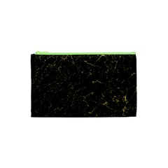 Black Marbled Surface Cosmetic Bag (xs)