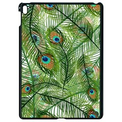 Peacock Feathers Pattern Apple Ipad Pro 9 7   Black Seamless Case by Vaneshart