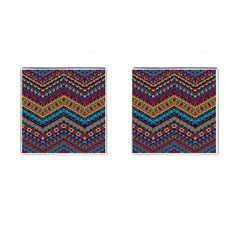 Full Color Pattern With Ethnic Ornaments Cufflinks (square)