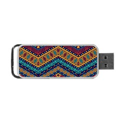 Full Color Pattern With Ethnic Ornaments Portable Usb Flash (two Sides)