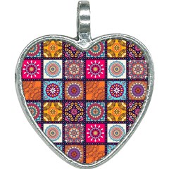 Mandala Pattern Heart Necklace by Vaneshart