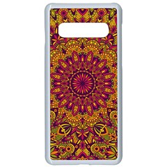 Mandala Vector Tribal Vintage Ethnic Seamless Pattern Print Samsung Galaxy S10 Seamless Case(white)