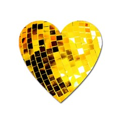 Golden Disco Ball Heart Magnet by essentialimage