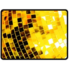 Golden Disco Ball Fleece Blanket (large)  by essentialimage