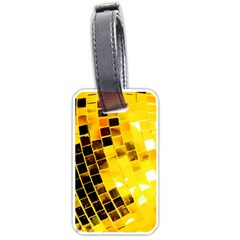 Golden Disco Ball Luggage Tag (two Sides) by essentialimage
