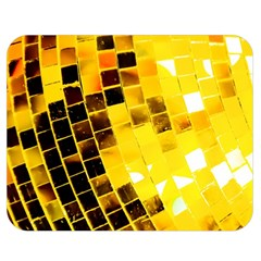 Golden Disco Ball Double Sided Flano Blanket (medium)  by essentialimage