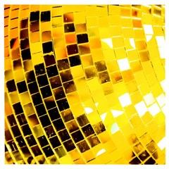 Golden Disco Ball Wooden Puzzle Square by essentialimage