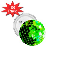 Green Disco Ball 1 75  Buttons (100 Pack)  by essentialimage