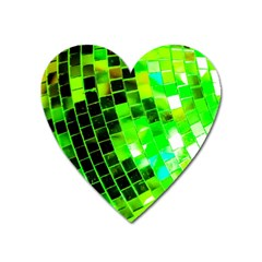 Green Disco Ball Heart Magnet by essentialimage