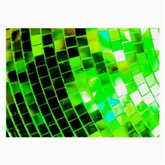 Green Disco Ball Large Glasses Cloth (2 Sides) by essentialimage