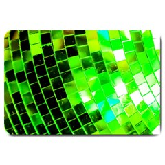 Green Disco Ball Large Doormat  by essentialimage