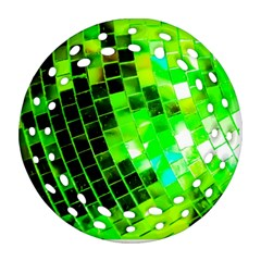 Green Disco Ball Ornament (round Filigree) by essentialimage