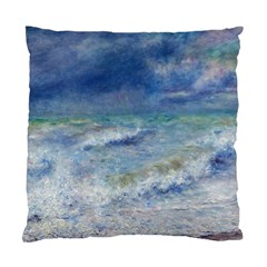 Seascape By Pierre-auguste Renoir Fine Art Standard Cushion Case (one Side) by ArtMuseum