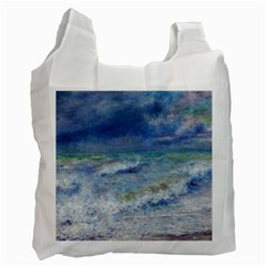 Seascape By Pierre-auguste Renoir Fine Art Recycle Bag (two Side) by ArtMuseum