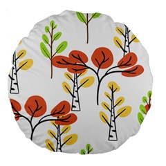 Tree Autumn Forest Landscape Large 18  Premium Round Cushions