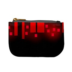 Light Neon City Buildings Sky Red Mini Coin Purse