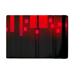 Light Neon City Buildings Sky Red Apple Ipad Mini Flip Case by HermanTelo