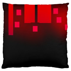 Light Neon City Buildings Sky Red Large Flano Cushion Case (two Sides) by HermanTelo