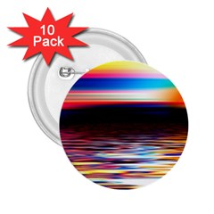 Lake Sea Water Wave Sunset 2 25  Buttons (10 Pack)  by HermanTelo