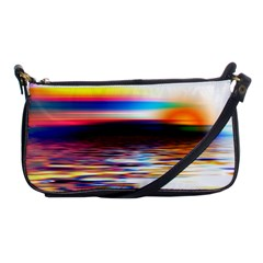 Lake Sea Water Wave Sunset Shoulder Clutch Bag by HermanTelo